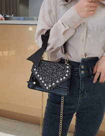 Fashion Black Single Shoulder Sliver Sequin Bag