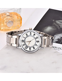 Fashion Silver Alloy Strap Adjustable Electronic Watch