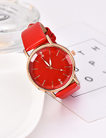 Fashion Red Pu Alloy Electronic Watch