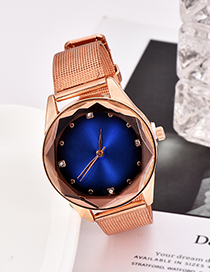 Fashion Royal Blue Alloy Strap Electronic Element Watch