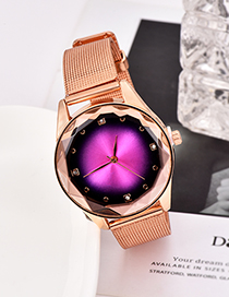 Fashion Red Alloy Strap Electronic Element Watch