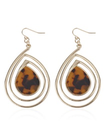 Fashion Amber Alloy Acetate Plate Drop Earrings