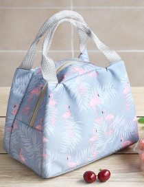 Fashion Flamingo Portable Waterproof Large Aluminum Foil Thickened Lunch Bag