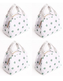 Fashion Cactus Portable Waterproof Large Aluminum Foil Thickened Lunch Bag
