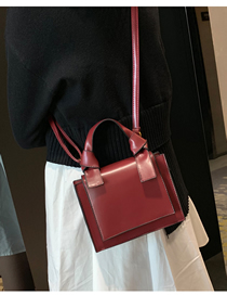 Fashion Red Wine Shoulder Messenger Bag