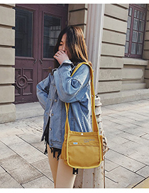 Fashion Yellow Multi-pocket Canvas Shoulder