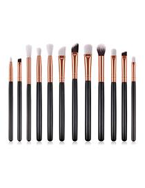 Fashion Black 12 - Eye Brush - Black