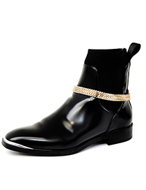 Fashion Gold Single Metal Serpentine Chain Anklet