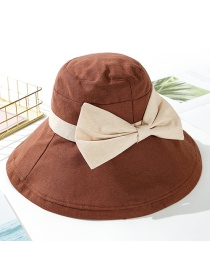 Fashion Coffee Color Big Bow Butterfly Fisherman Hat