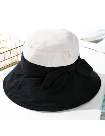 Fashion Black Two-color Stitching Big Fisherman Hat