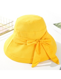 Fashion Mango Yellow Dual-use Big Tethered Rope Butterfly Cap