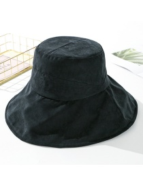 Fashion Black Peach Velvet Solid Color Cloth Hat