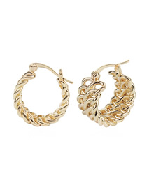 Fashion Gold Alloy Round Chain Stud Earrings