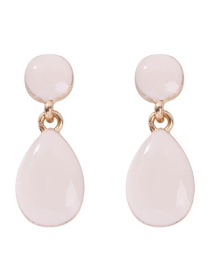 Fashion White Water Droplet Resin Stud Earring