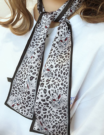 Fashion Leopard Head Black Houndstooth Multifunctional Small Scarf