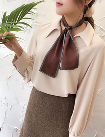 Fashion Coffee Solid Color Narrow Strips