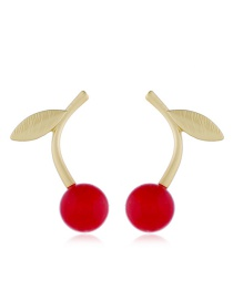 Fashion Red Alloy Earrings