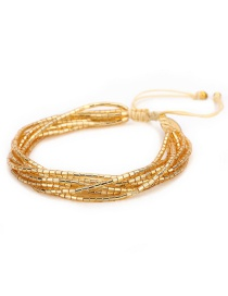 Fashion Gold Eye Suit Woven Bracelet