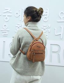 Fashion Light Brown Pu Backpack