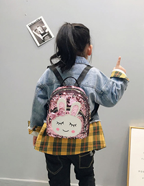 Fashion Pink Rabbit Rabbit Sequin Backpack