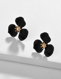 Fashion Black Spray Paint Earrings