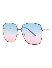 Fashion Shanglan Xiahong Square Gradient Color Sunglasses