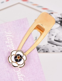 Fashion White Alloy Flower Hair Clip