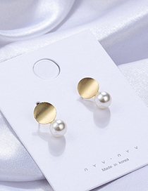 Fashion Gold Geometrically Twisted Pearl Irregular Earrings