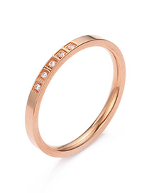 Fashion Rose Gold Stainless Steel Ring