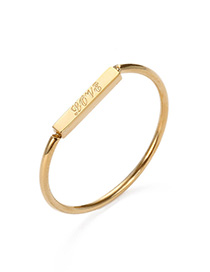 Fashion Gold Color Letter Pattern Decorated Ring