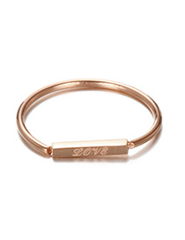 Fashion Rose Gold Letter Pattern Decorated Ring