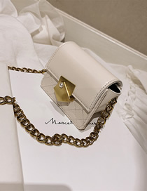 Fashion Small White Pleated Chain Lock Shoulder Bag