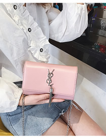 Fashion Pink Chain Tassel Shoulder Diagonal Package