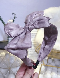 Fashion Bean Paste Multi-layer Bow Wide-brimmed Headband
