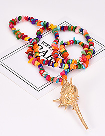Fashion Color Natural Crystal Conch Sweater Chain