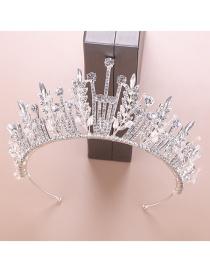 Fashion White Crystal Crown Hair Accessories