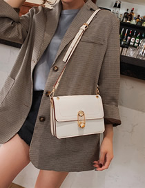 Fashion White Portable Crossbody Color Shoulder Bag