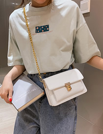 Fashion White Contrast Multi-layer Crossbody Bag