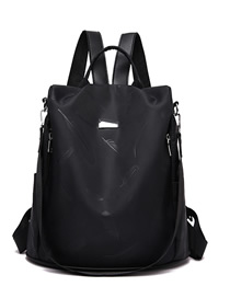 Fashion Black 1 Oxford Cloth Backpack