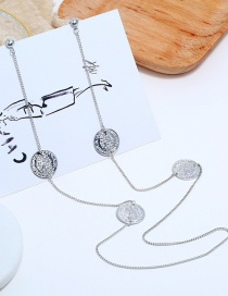 Fashion Silver Hanging Neck One-piece Body Earrings