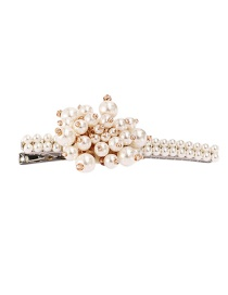Fashion Pearl White Alloy Pearl Hairpin