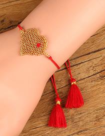 Fashion Yellow Love Braided Bracelet