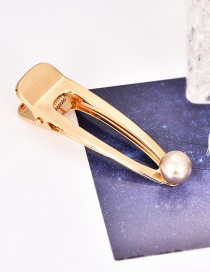 Fashion Champagne Alloy Pearl Hairpin