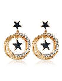 Fashion Star Diamond Stud Earrings
