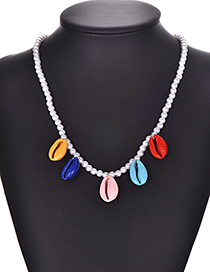 Fashion Color Pearl Color Shell Necklace