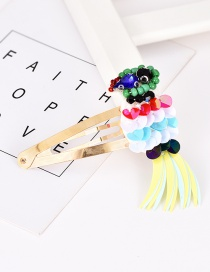 Fashion Gold Alloy Sequins Bird Hairpin
