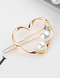 Fashion Love Pearl Geometric Hair Clip