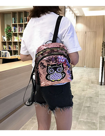 Fashion Pink Cat Sequin Children's Backpack