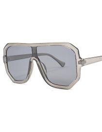 Fashion Brown Square Frame Connected Lens Sunglasses