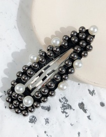 Fashion Gray Black And White Pearl Triangle Pearl Hairpin
